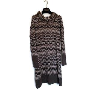 Prana Long Sleeved Hooded Dress Size Small
